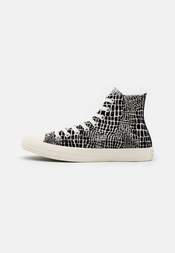 Converse - CHUCK TAYLOR ALL STAR CROC PRINT - Korkeavartiset tennarit - egret/black