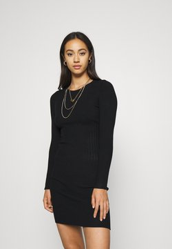 Even&Odd - JUMPER DRESS - Etuikleid - black