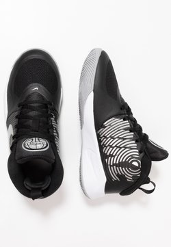 Nike Performance - TEAM HUSTLE D 9 UNISEX - Zapatillas de baloncesto - black/metallic silver/wolf grey/white