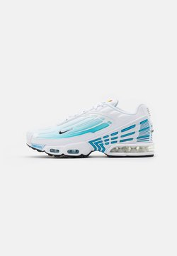 Nike Sportswear - AIR MAX PLUS III - Sneaker low - white/black/laser blue/enigma stone/glacier ice