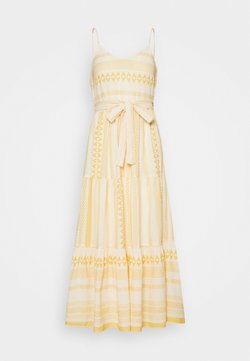 Vero Moda Petite - VMDICTHE SINGLET ANCLE DRESS VIP  - Maxikleid - birch/new dicthe/saffron