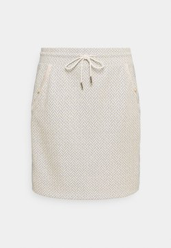 Rich & Royal - SKIRT - Minirock - pearl white