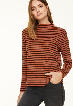 comma casual identity - Langarmshirt - cognac stripes