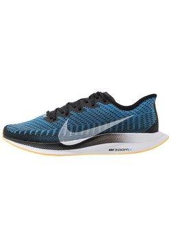 Nike Performance - ZOOM PEGASUS TURBO 2 - Laufschuh Neutral - black/white/university blue/laser orange