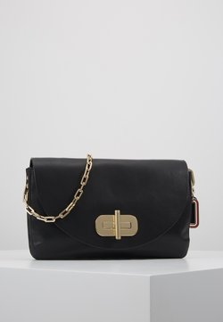 Tommy Hilfiger - SOFT TURNLOCK SATCHEL - Clutch - black