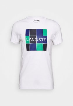 Lacoste Sport - T-Shirt print - white/dark navy blue-cosmic-greenfinch