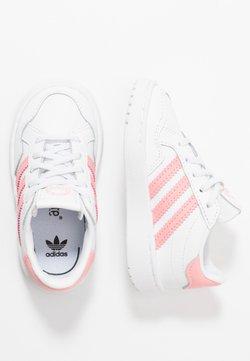adidas Originals - TEAM COURT - Slipper - footwear white/glow pink/core black