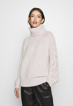 ONLY - ONLALYSSA LIFE ROLLNECK - Pullover - pumice stone