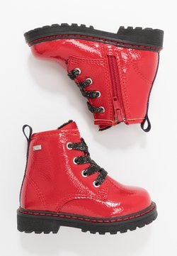 TOM TAILOR - Bottines à lacets - red
