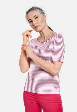 Gerry Weber - 1/2 ARM - T-Shirt print - ecru/weiss/lila/pink ringel