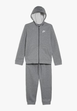 Nike Sportswear - CORE SET UNISEX - Survêtement - carbon heather/dark grey/white