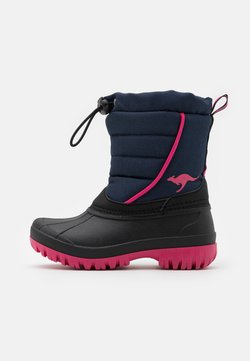 KangaROOS - K-BEN - Snowboot/Winterstiefel - dark navy/daisy pink