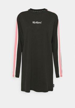Kickers Classics - SLEEVE PANEL DRESS - Jersey dress - black/pink