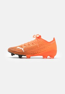 Puma - ULTRA 1.1 FG/AG - Moulded stud football boots - shocking orange/black
