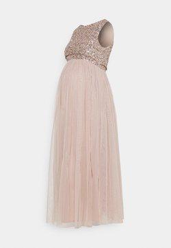 Maya Deluxe Maternity - DELICATE GLITTER OVERLAY DRESS - Vestido de fiesta - taupe blush