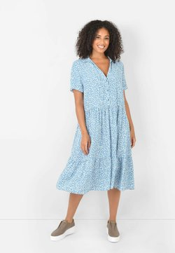 Live Unlimited London - BLUE DITSY SUSTAINABLE TIERED - Freizeitkleid - blue
