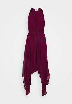 MICHAEL Michael Kors - PLEATED HALTER - Maxi dress - dark ruby