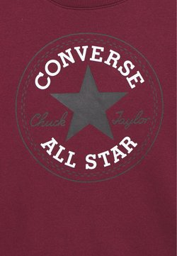 Converse - CHUCK PATCH CREW - Sweatshirt - dark burgundy