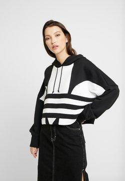 adidas Originals - ADICOLOR LARGE LOGO CROPPED HODDIE SWEAT - Kapuzenpullover - black/white