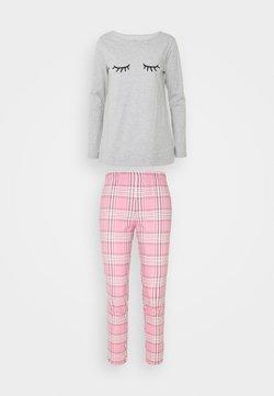 Benetton - SET  - Pyjama - pink / grey