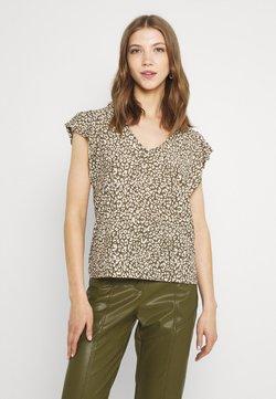 JDY - JDYGITTE SVANS V NECK - T-Shirt print - black/kalamata