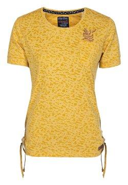 S'questo - SHIRT  - T-Shirt print - mittelgelb