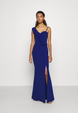 WAL G. - FRILL DETAIL DRESS - Robe de cocktail - cobalt blue