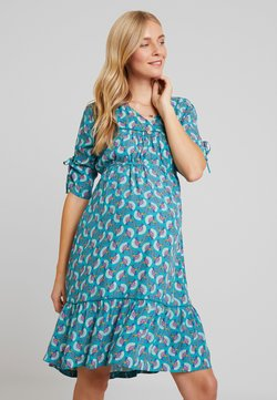Queen Mum - DRESS MARSEILLE - Freizeitkleid - teal blue