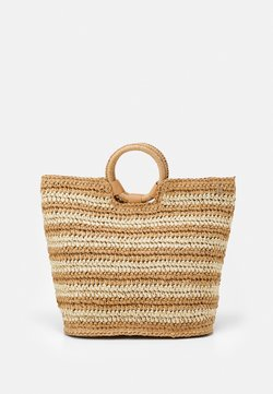 Seafolly - CARRIED AWAY STRIPE BEACH BAG - Shoppingväska - natural
