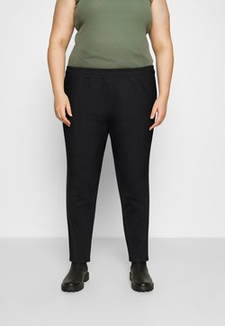 NU-IN - SEAM FRONT TAPERED JOGGERS - Jogginghose - black