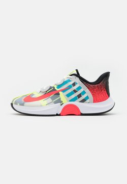 Nike Performance - COURT AIR ZOOM TURBO - Zapatillas de tenis para todas las superficies - white/solar red/hot lime/neo turquoise