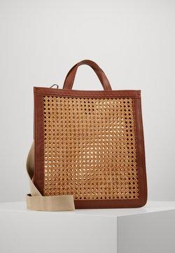 Coccinelle - BORSA PAGLIA BOTTALATINO - Shopping Bag - brule