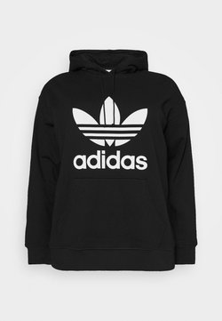 adidas Originals - TREFOIL HOODIE ADICOLOR HOODED - Hoodie - black/white