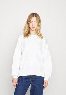 Even&Odd - OVERSIZED WIDE RIB JUMPER - Jersey de punto - off-white