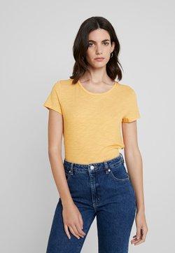 TOM TAILOR DENIM - T-Shirt print - yellow/white