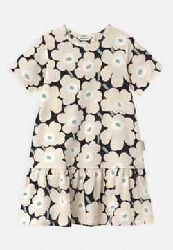 Marimekko - IHAILLA MINI UNIKOT - Jerseykleid - black/beige/light green