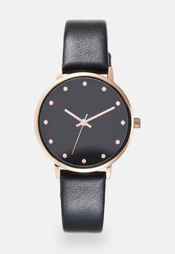 Even&Odd - Watch - black/rosegold-coloured