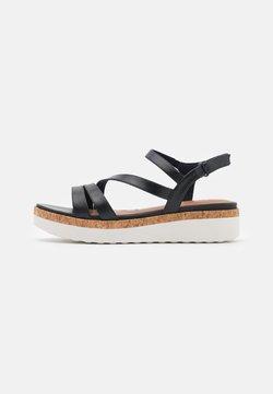 Tamaris GreenStep - Korkeakorkoiset sandaalit - navy