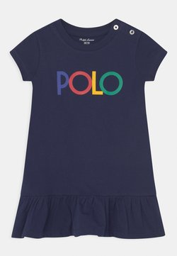 Polo Ralph Lauren - FLOUNCE DAY DRESS SET - Jerseykleid - french navy