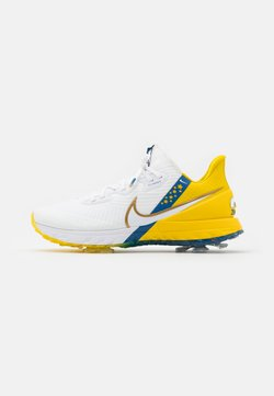 Nike Golf - RYDER CUP INFINITY TOUR USA - Golf shoes - white/metallic gold/team royal/speed yellow