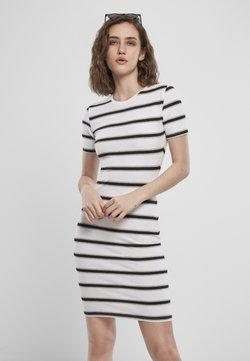 Urban Classics - Vestido de tubo - white/black