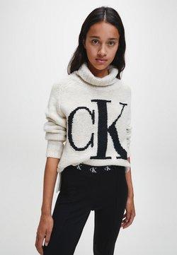 Calvin Klein Jeans - Strickpullover - soft cream