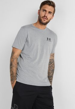 Under Armour - SPORTSTYLE LEFT CHEST - T-Shirt basic - steel light heather/black
