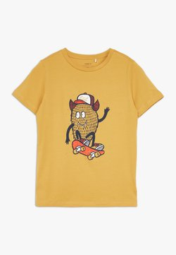 Name it - NKMDAWI  - T-shirt z nadrukiem - amber gold