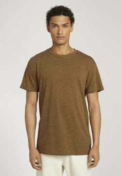 TOM TAILOR DENIM - T-shirt print - cognac yd stripe