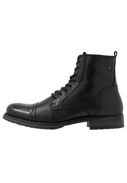 Jack & Jones - JFWRUSSEL WARM  - Lace-up ankle boots - anthracite