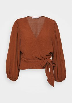 Abercrombie & Fitch - CHASE BLOUSE - Bluse - dark brown