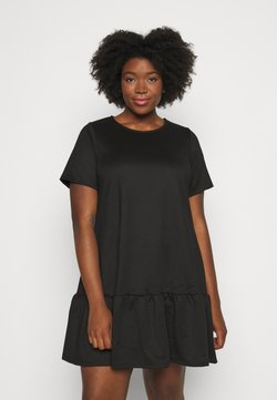 Simply Be - PONTE TSHIRT DRESS - Freizeitkleid - black