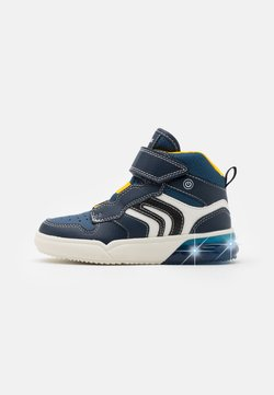 Geox - GRAYJAY BOY - Sneaker high - navy/yellow