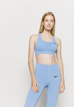 Smilodox - SEAMLESS SPORTS BRA INTENSE - Sport BH - hellblau